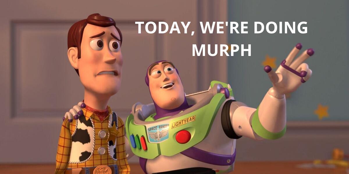 meme con woody e buzz lightyear che fanno il murph