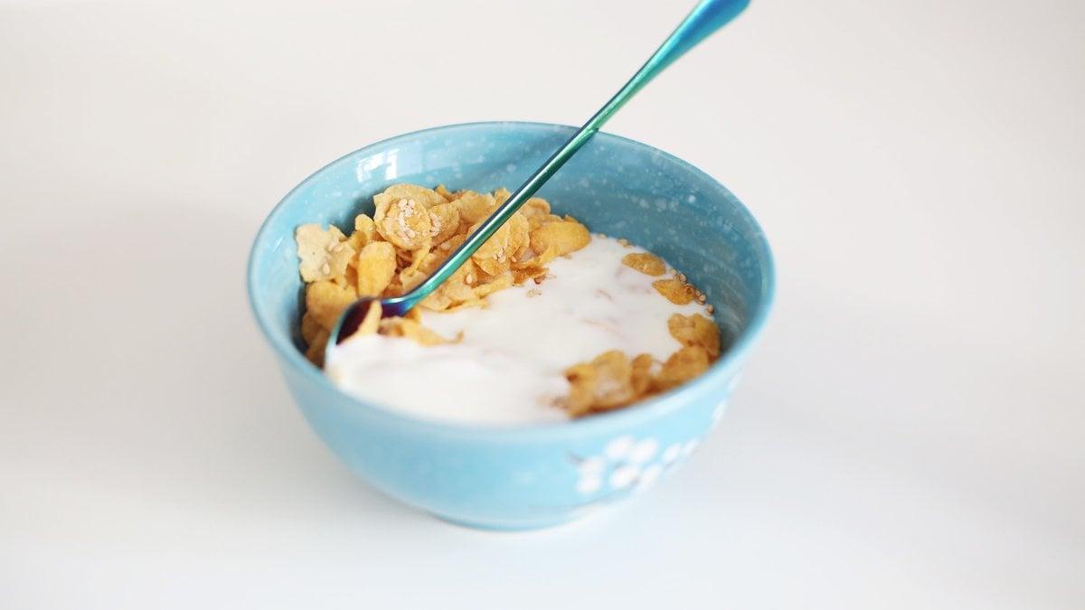 Un mix di yogurt e cereali